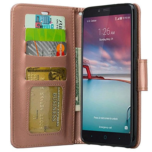 low priced 5069f 01399 ZTE ZMAX Pro Case | Blade X Max | ZTE Carry | ZTE Grand X Max 2 Case | ZTE  Imperial Max Case | ZTE Max Duo Pu Leather Magnetic Fold[Kickstand] Wallet  ...