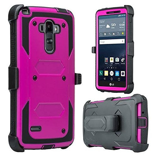 LG G Stylo Case, LG G Vista 2 Heavy Duty Case - Purple - www.coverlabusa.com