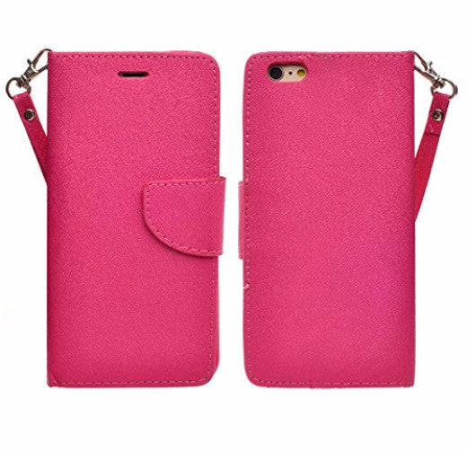 iphone 6s case, apple iphone 6 wallet case - hot pink - coverlabusa.com