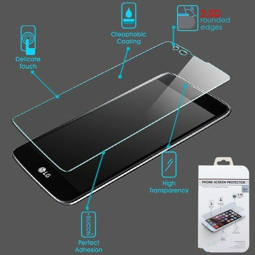 LG K4 (2017) | Fortune | Phoenix 3 | LV1 | M150 Premium Tempered Glass Screen Protector - www.coverlabusa.com