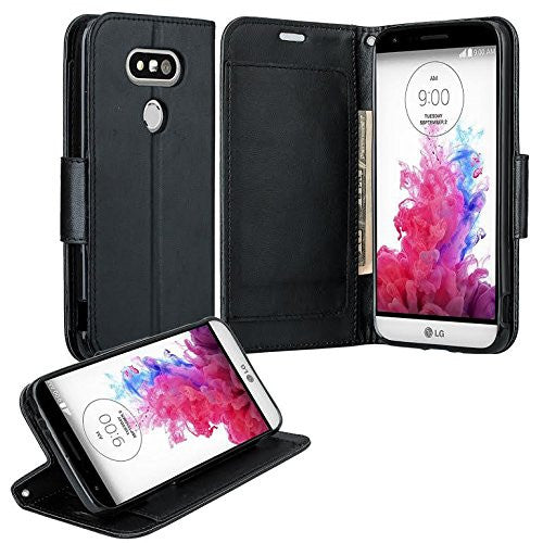 lg g5 double fold wallet case - black - www.coverlabusa.com