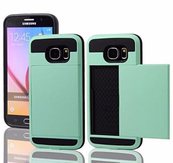 samsung galaxy s6 case with hidden card slot - teal - www.coverlabusa.com