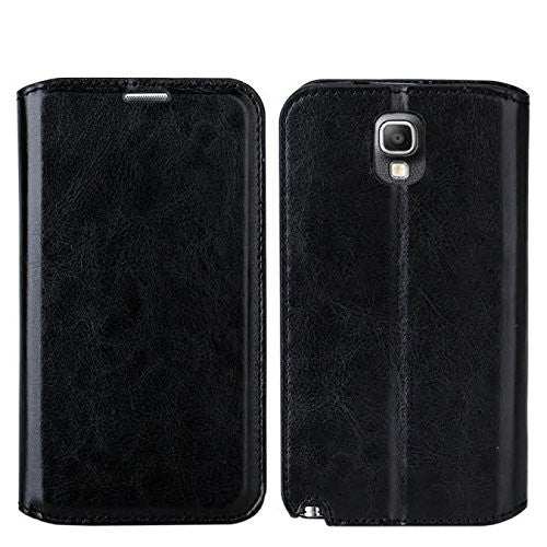 samsung galaxy note 3 leather wallet case - black - www.coverlabusa.com