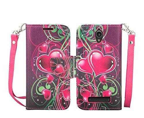 zte obsidian case - wallet case - heart strings - www.coverlabusa.com