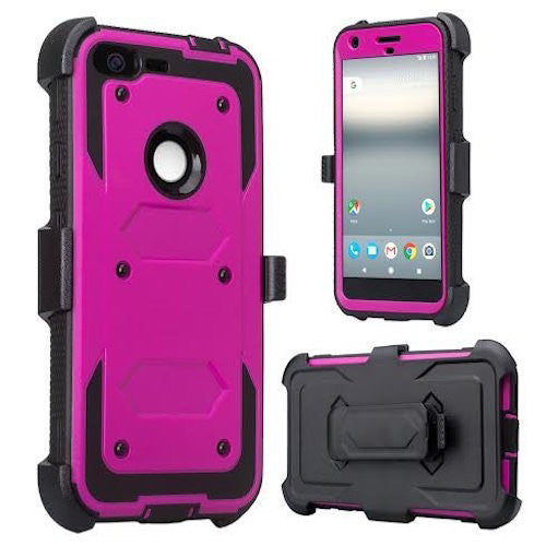 google pixel shockproof armor holster shell combo - purple - www.coverlabusa.com