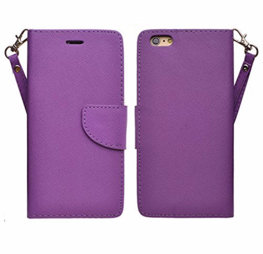 iphone 6s case, apple iphone 6 wallet case - purple - coverlabusa.com