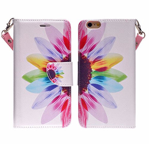 iphone 6 case, iphone 6 wallet case - sunflower - www.coverlabusa.com