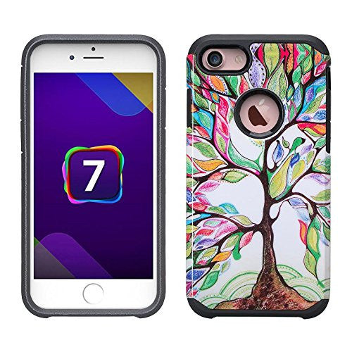 iphone 7 case, iphone 7 hybrid case - colorful tree - www.coverlabusa.com