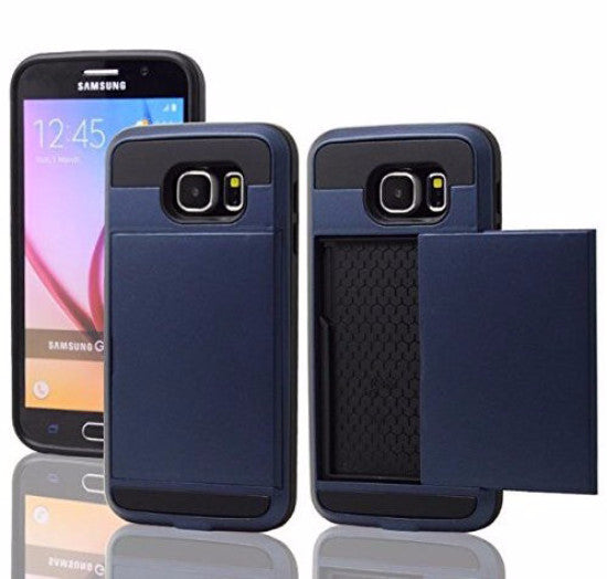 samsung galaxy s6 edge case with hidden card slot - navy blue - www.coverlabusa.com