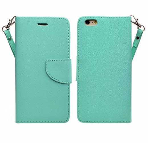 iphone 6 plus case, iphone 6s plus case wallet case teal - coverlabusa.com