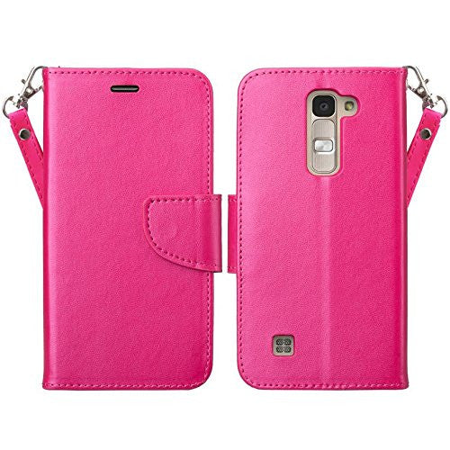 LG K7 wallet case - hot pink - www.coverlabusa.com