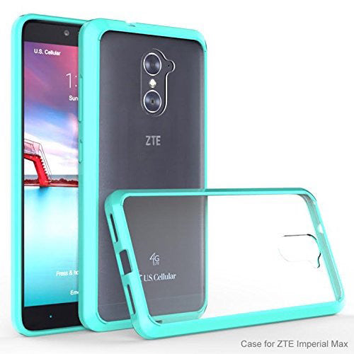 quality design 9f48e bbd3b ZTE Grand X Max 2 Case | ZTE Imperial Max/Max Duo EZ-Grip Hybrid Armor  Bumper Case Cover for ZTE Grand X Max 2/Imperial Max/Max Duo LTE - Teal