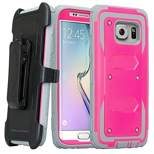 samsung S7 case, S7 heavy duty hybrid holster case - hot pink - www.coverlabusa.com