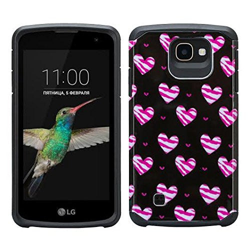 LG Optimus Zone 3 Cases | LG K4 Cases | LG Spree Cases | LG Rebel Cases - STRIPED HEARTS - www.coverlabusa.com