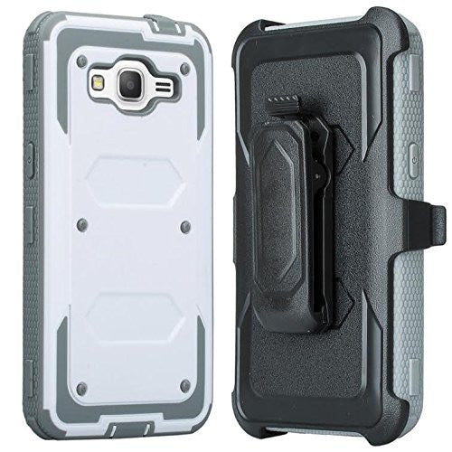 Samsung Galaxy Grand Prime / Go Prime Case holster screen protector, white www.coverlabusa.com