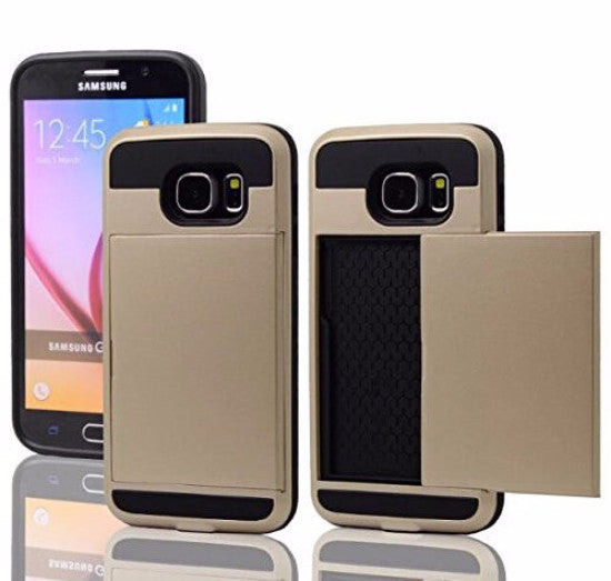 samsung galaxy s6 edge case with hidden card slot - gold - www.coverlabusa.com