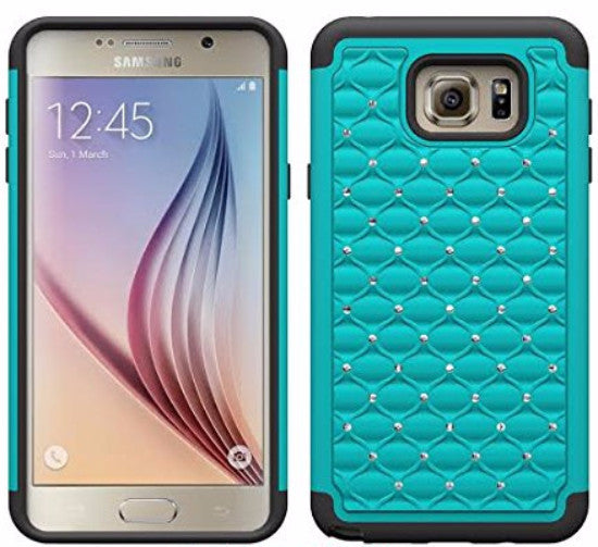 samsung note 5 case - diamond hybrid - teal - www.coverlabusa.com