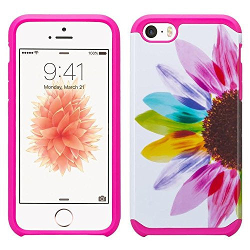 apple iphone SE 5S 5 hybrid case - sunflower - www.coverlabusa.com