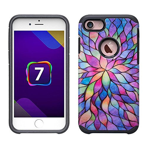 apple iphone 6S 6 case - rainbow flower - www.coverlabusa.com