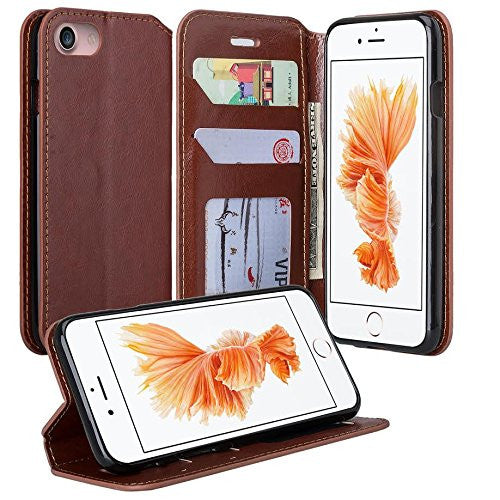 iphone 7 plus case, iphone 7 plus wallet case - brown - www.coverlabusa.com