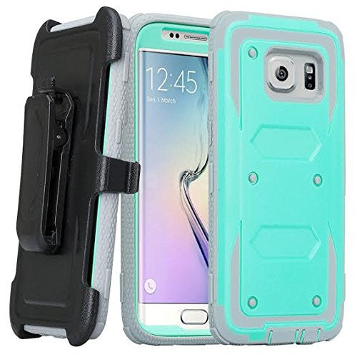 samsung S7 case, S7 heavy duty hybrid holster case - teal - www.coverlabusa.com