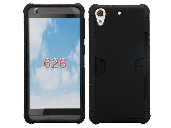 htc desire hybrid card slot case - black - www.coverlabusa.com