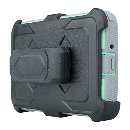 Galaxy J3/J3V | Express Prime | Sky | Amp Prime | Sol | Heavy Duty Holster Shell Combo - Teal/Grey - coverlabusa.com