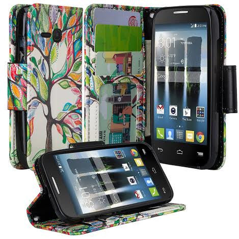 Alcatel Pixi Eclipse Wallet Case, Vibrant Tree, www.coverlabusa.com
