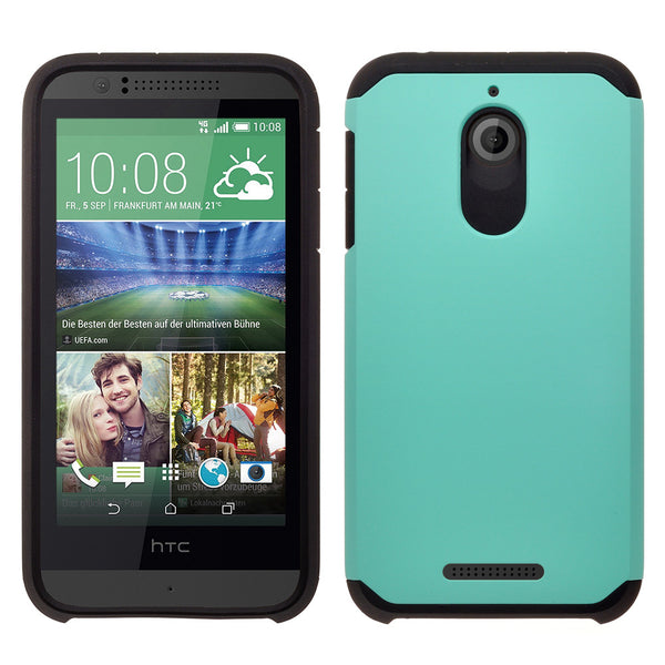 HTC Desire 510 Hybrid Case Cover - Teal - www.coverlabusa.com