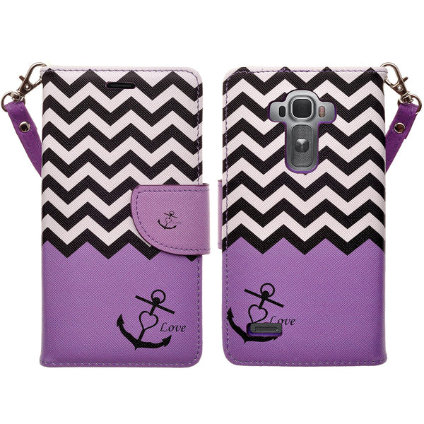 LG G4 leather wallet case -  purple anchor - www.coverlabusa.com