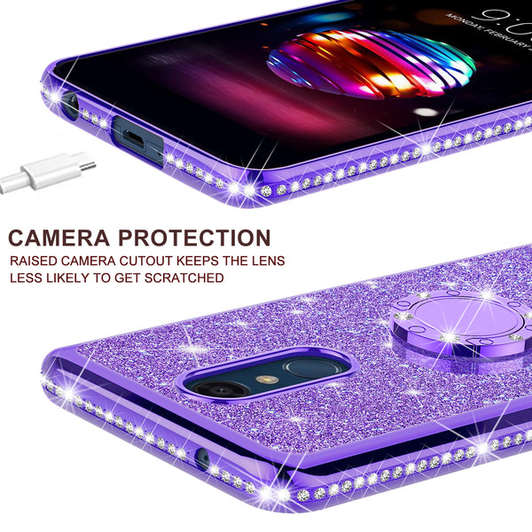 lg stylo 5 glitter bling fashion case - purple - www.coverlabusa.com