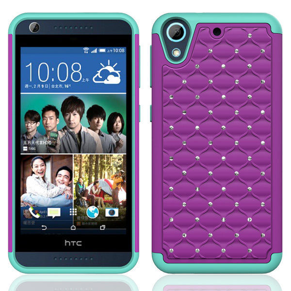 HTC Desire 626 Case - Purple/Teal - www.coverlabusa.com