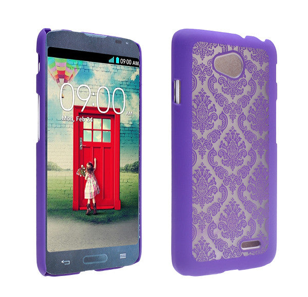 LG L70 Damask-Purple- www.coverlabusa.com