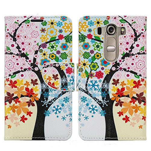 LG K10 Case / LG Premier LTE Wallet Case - 4 season tree - www.coverlabusa.com
