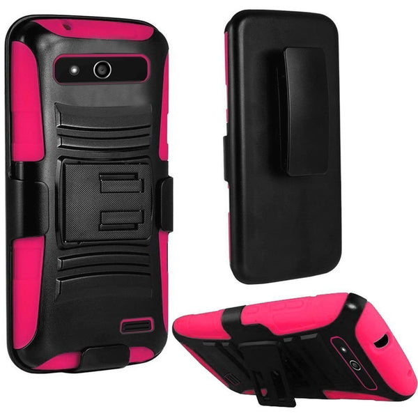 zte speed - hybrid holster - hot pink - www.coverlabusa.com