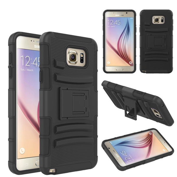 Samsung Galaxy Note 5 Case built in kickstand - Black - www.coverlabusa.com
