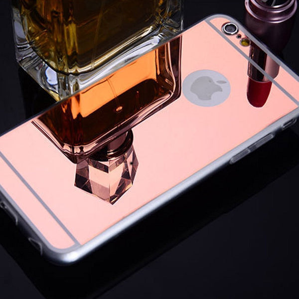 iPhone 8 case, Apple iPhone 8 mirror case gold - www.coverlabusa.com
