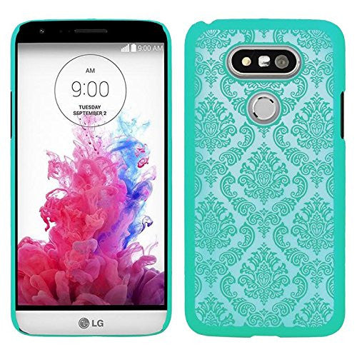 lg g5 slim damask case - teal - ww.coverlabusa.com