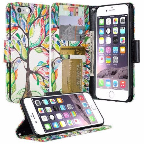 iphone 7 plus case, iphone 7 plus wallet case - vibrant tree - www.coverlabusa.com