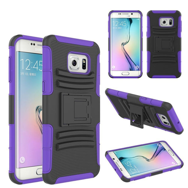 samsung galaxy s6 edge hybrid holster - purple - www.coverlabusa.com