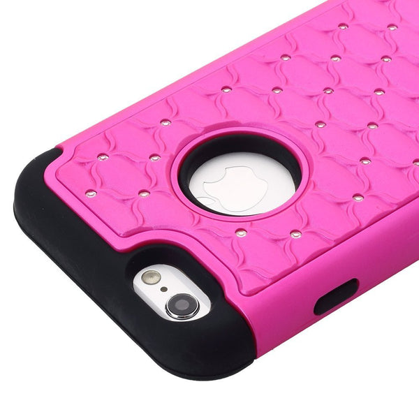 iphone 6s plus case, apple iphone 6 plus diamond rhinestone hybrid case - purple - coverlabusa.com