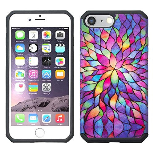 apple iphone 6S/6 Plus Case - rainbow flower - www.coverlabusa.com