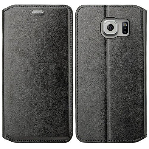 samsung galaxy S6 Edge Plus cover, galaxy S6 Edge Plus wallet case - Solid Black - www.coverlabusa.com