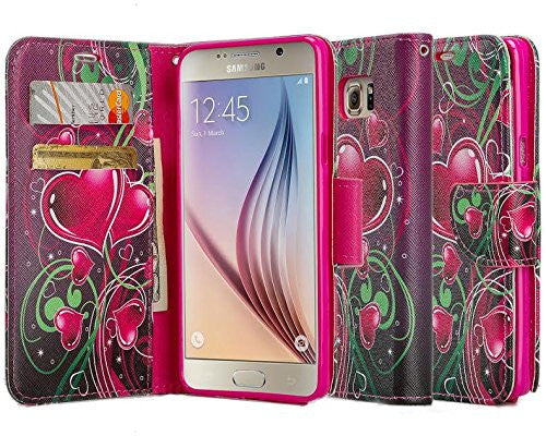 samsung galaxy note 5 case - Pu leather wallet - Heart Strings - www.coverlabusa.com