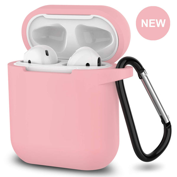 apple airpods charging case silicone cover - www.coverlabusa.com - pink