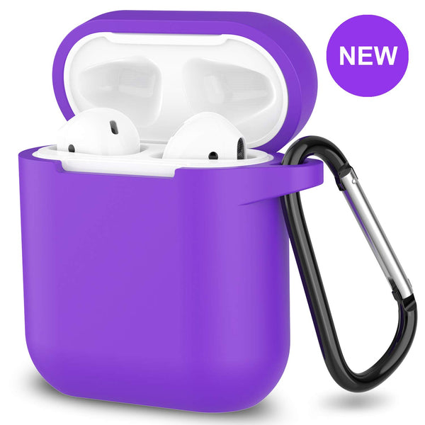 apple airpods charging case silicone cover - www.coverlabusa.com - purple