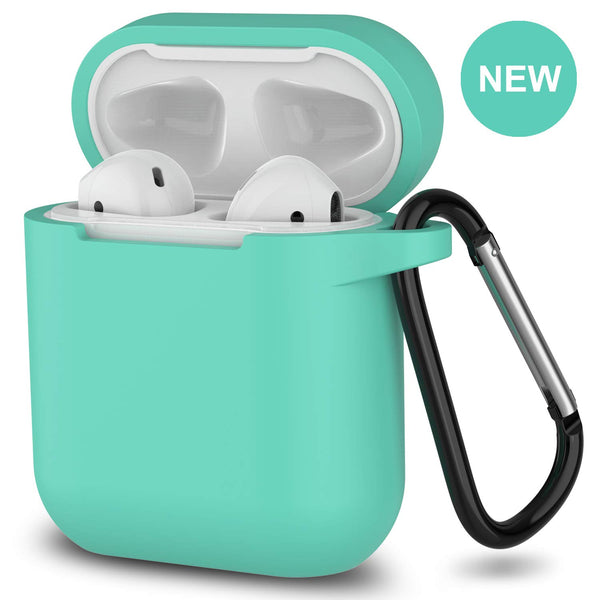 apple airpods charging case silicone cover - www.coverlabusa.com - green