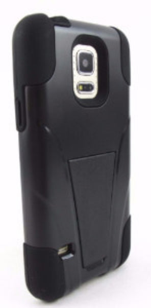 samsung galaxy s5 case with kickstand - black - www.coverlabusa.com
