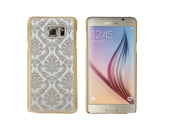 Samsung Galaxy Note 5 Case, Ultra Slim Damask Vintage Hard Case Cover - Gold - www.coverlabusa.com