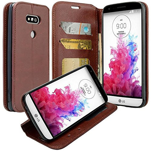 lg g5 wallet case - brown - www.coverlabusa.com